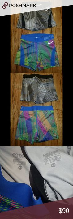 Nike Pro Thin Striped Shorts XS - Set of 2 - New 🆕 Brand new, never worn, no damage.  👍 Smoke-free, pet-free household.   🚫 No trades/swaps!  🚫 No holds!  🚫 No low-balling!  🚫 No PayPal!   ✔ Reasonable offers welcomed! Please use the offer button so I know you are serious about the item! I will not respond to price negotiations via comments.  ✔ I love bundling! Not only will you get ONE shipping fee, I will also discount your combined total! Please ask me in the comments!  😜 Happy…