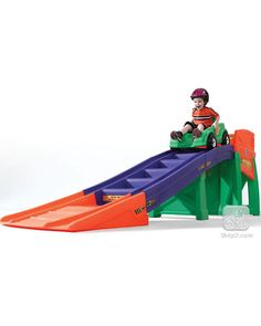 This colorful roller coaster toy will be a hit with kids who are toddlers and older. Climbing the stairs helps build balance and develop gross motor skills while giving kids plenty of exercise. Click above to buy one for your backyard.