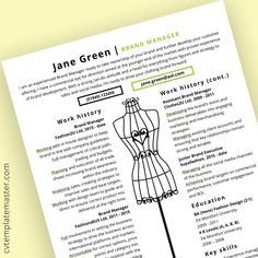 Fashion CV template
