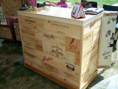 OK so its Not a Barrel... but its wine boxes. How cool is that?