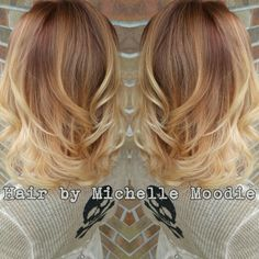 Copper melted into light blonde