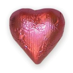 Foiled Milk Chocolate Heart Bright Pink www.candypros.com