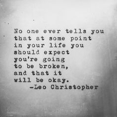 Leo Christopher • Fractured Lives