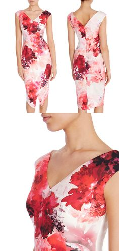 Coast Edris Bold Floral Print Bodycon Shift dress. This contemporary pencil dress features a V neckline, a cinched in waist with soft yet structured asymmetric form and neoprene fit. The print creates a gorgeous look for the fashion fashionista attending the races, Kentucky derby, royal ascot, a spring wedding or Mother of the bride. #kentuckyderby #fashion #fashionista #ootd #royalascot #pinkdress #floraldress #springweddings #affiliatelink #coastdress #motherofthebride  #bodycondress…