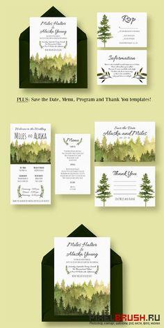 In the Woods Wedding Suite - Creativemarket 384215