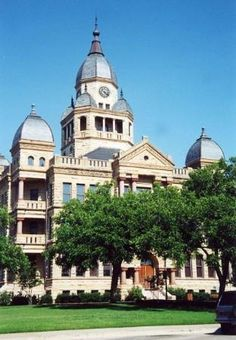 Denton Texas , The old court house it is now a museum and The guy Who made Denton is buried in the front lawn