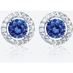 The Amelia Sterling Silver Tanzanite Coloured DiamonFlash Cubic... (207.005 IDR) ❤ liked on Polyvore featuring jewelry, earrings, sterling silver cubic zirconia earrings, cz jewelry, sterling silver cz jewelry, cz stud earrings and sterling silver cubic zirconia jewelry