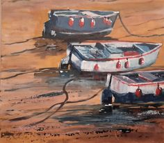 Glyn Macey challenge 2 - Boats by David Collins The Artist Magazine, David Collins, Life In The Uk, He Is Able, Boats, Magazines, Exercises, Challenges, Artists