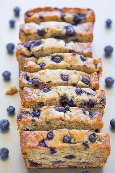 This Blueberry Banana Zucchini Bread is so moist and flavorful thanks to the blueberries and banana. I guarantee this will be your new favorite quick bread! Zucchini Banana Bread, Zucchini Bread Recipes, Blueberry Topping, Blueberry Desserts, Blueberry Bread, Homemade Blueberry Pie, Stevia, Hash Tag, Yogurt