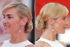 Kate Winslet's classic low bun is super sleek and sophisticated