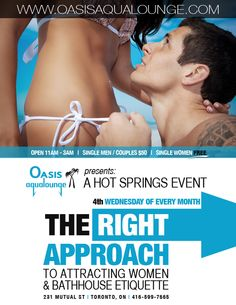 Join us in the Oasis Ballroom for sexy icebreakers and entertaining skits on the right approach to meeting people at Oasis Aqualounge and policies of the club. Topics will range from using inclusive language, approaching people for play and respecting boundaries.