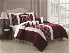 Julius 7 Piece Embroidered Queen Comforter Set Chocolate #hiddentreasuresdecorandmore