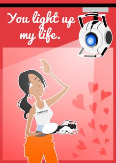Another Portal Valentine by *LaggyCreations on deviantART