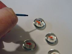 Snowman flat marble magnets