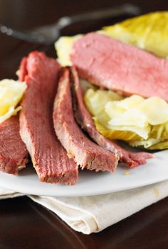 Corned Beef and Cabbage ~ slow-simmered corned beef with cabbage so tender and good, it will make you want to make it more often!     www.thekitchenismyplayground.com