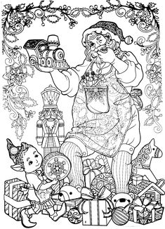 New Year coloring pages, Christmas coloring pages New Year Coloring Pages, Detailed Coloring Pages, Horse Coloring Pages, Easter Coloring Pages, Printable Adult Coloring Pages, Coloring Book Art, Cute Coloring Pages, Disney Coloring Pages, Mandala Coloring