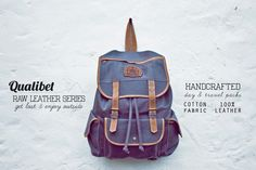 RAW LEATHER SERIES Travel Packing, Leather Backpack, Fashion Backpack, Backpacks, Fabric, Cotton, Bags, Clothes, Shoes