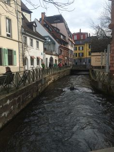 One of the channels that flows through Fribourg, Germany