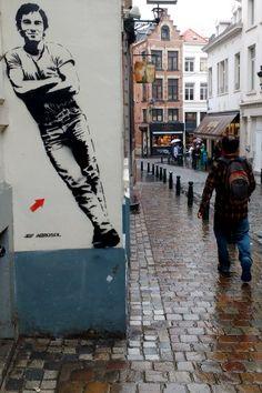 Arte de rua em Bruxelas, na Bélgica (2016)