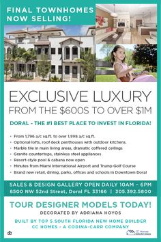 Final chance to buy at The Townhomes at Doral. Final homes selling fast.  #Doral #newtownhomes