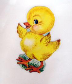 Vintage Easter Die Cut Decorations Chick Dennison by teresatudor, $6.50