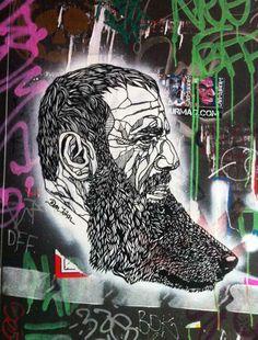 Don John in Berlin, Germany (photo © Don John) Graffiti Wall Art, 3d Wall Art, Street Art Graffiti, Mural Art, Stencil Graffiti, Murals, Best Street Art, 3d Street Art, Street Artists