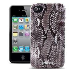 Силиконовый чехол Justcavalli Python Grey Питон Серый для IPhone 4&4s