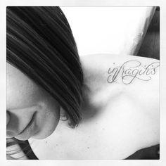 infragilis shoulder/collar bone tattoo [latin for unbreakable] #inked #tattoos #latinwordtattoos #tradewindstattoo #shaunwebber #infragilis