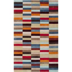 Hand-tufted Troy Multicolor Geometric Rug