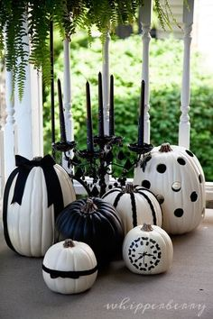 "Black & White Halloween Pumpkins! Thanks for joining our ""Pin a Pumpkin"" Party!"