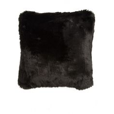 Nordstrom at Home 'Cuddle Up' Faux Fur Square Accent Pillow ($68) ❤ liked on Polyvore featuring home, home decor, throw pillows, black, black accent pillows, black throw pillows, faux fur throw pillows, square throw pillows and black home decor