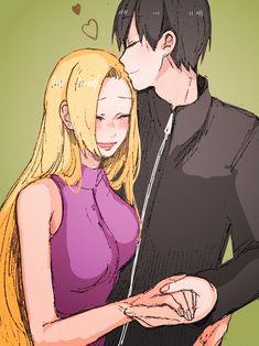 Ino and Sai #kiss #holdinghands