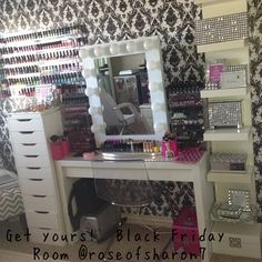 Yes I love this patterned paper and sparkly accessories White Broadway Table Top Mirror $399 www.VanityGirlHollywood.com