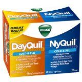 Vicks Dayquil And Nyquil Cold & Flu Relief Liquicaps Convenience Pack 72 Count