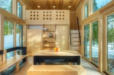 love, two lofts tiny home