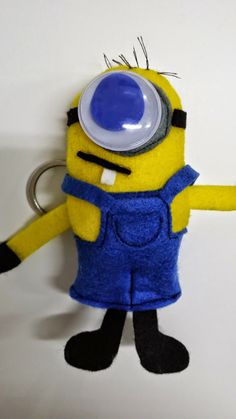 keychain minion handmade by Crafty arty manoula