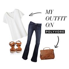Classic White T & Denim, created by kendrick-woolford on Polyvore