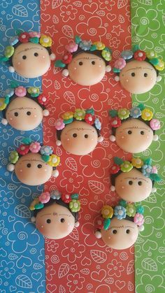 Porcelain China Mugs Key: 3511412738 Fimo Clay, Polymer Clay Charms, Polymer Clay Projects, Clay Crafts, Diy And Crafts, Mexican Crafts, Little Presents, Clay Baby, Cute Clay