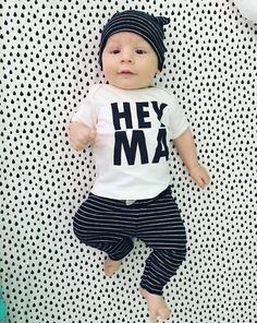 Hey Ma, Modern Baby, Boy, Girl, Unisex, Gender Neutral, Infant, Toddler, Newborn, Organic, Bodysuit, Outfit, One Piece, Onesie®, Onsie®, Tee, Layette, Onezie®
