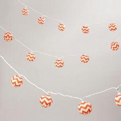 Chevron Paper String Lights