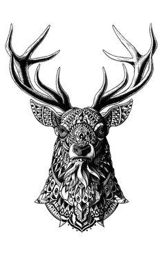 Ornate Deer Print