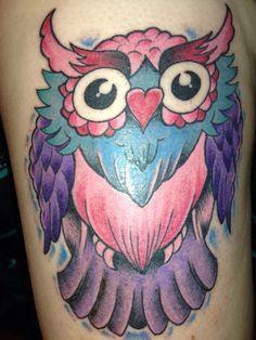 Owl tattoo love