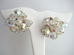 Gorgeous Vintage Juliana ChaCha Clear and Aurora by zoeJaneJewels1, $40.00
