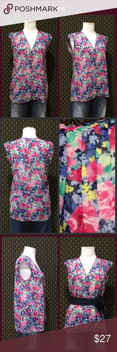Joie Silk Floral Blouse Semi sheer silk, Pintuck detail, flutter skeace, great condition.  Relaxed fit.  **  Prices are as listed- Nonnegotiable.  I'm happy to bundle to save shipping costs, but there are no additional discounts.  No trades, paypal or condescending terms of endearment  ** Joie Tops Blouses
