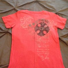 Buckle Fitted Tee Deep Red fitted tee from Buckle. Some minor fading. Buckle Tops Tees - Short Sleeve