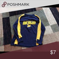 Michigan long sleeve t Gently used university of Michigan long sleeve t shirt. Boys size large. Fits more of size 5/6... Tops Tees - Long Sleeve