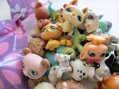 8 x LITTLEST PET SHOP *LPS* SURPRISE BLIND GRAB BAG ~ 8 Pets ~ 1 CAT 1 DOG!! #Hasbro