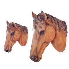 Wall mountable realistic #brown stallion horse head #garden art feature #ornament,  View more on the LINK: http://www.zeppy.io/product/gb/2/361275542901/