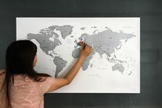 Scratch Off World Map Version 2 - Gold / Silver by verryberrysticker on Etsy