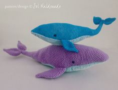 Whale Amigurumi Blue : crocheted sea turtle by planetjune - havent checked to ...